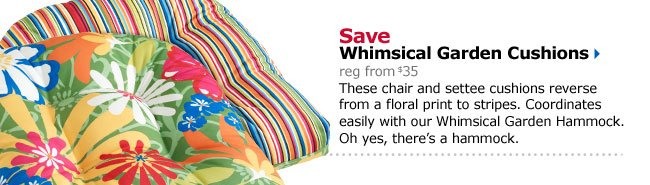 Save Whimsical Garden Cushions
