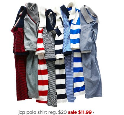 jcp polo shirt reg. $20 sale $11.99 ›