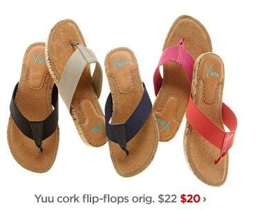 Yuu cork flip-flops orig. $22 $20 ›