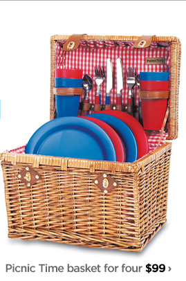 Picnic Time basket for four $99 ›