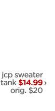 Jcp sweater tank $14.99 › orig. $20
