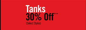 TANKS 20% OFF***