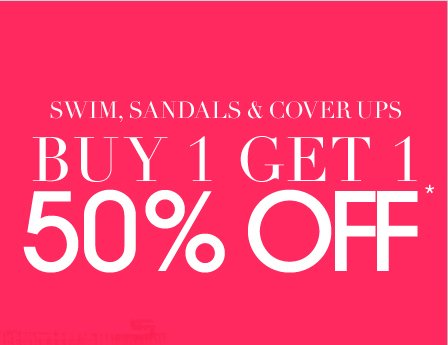 Swim, Sandals and Cover Ups - Shop Now