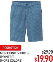 MEN PRINTED CHINO SHORTS