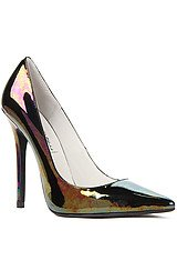 The Darling Shoe in Black Iridescent