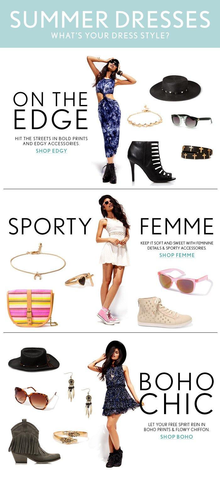 What's Your Dress Style? Shop Summer Dresses! - Shop Now