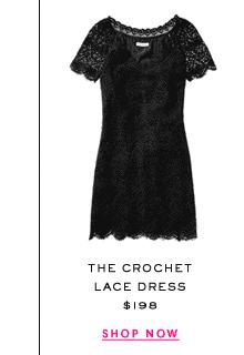 The Crochet Lace Dress at $198. Shop Now.