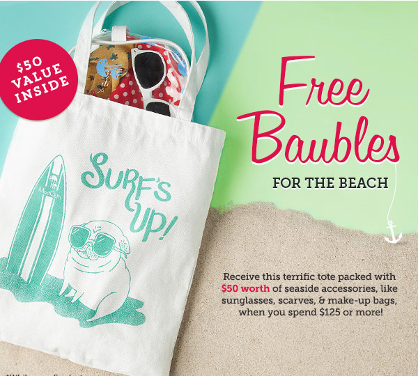 Free Baubles for the Beach