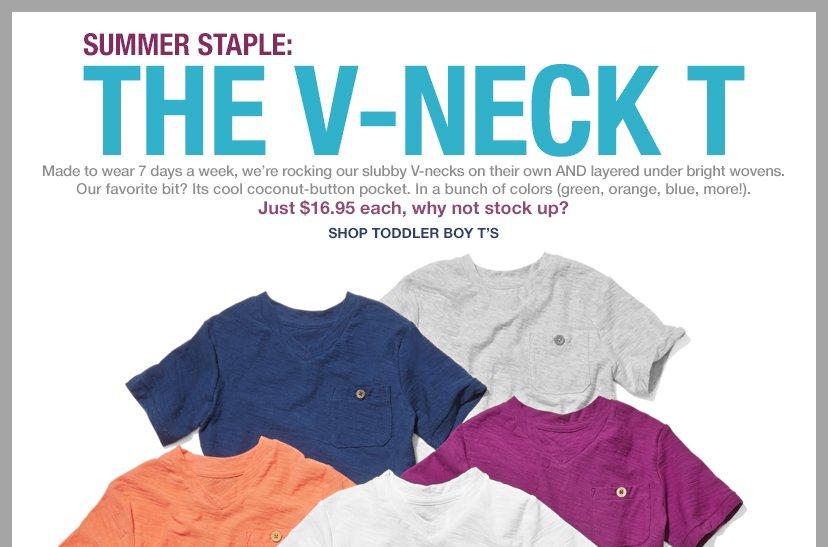 SUMMER STAPLE: THE V-NECK T | SHOP TODDLER BOY T'S