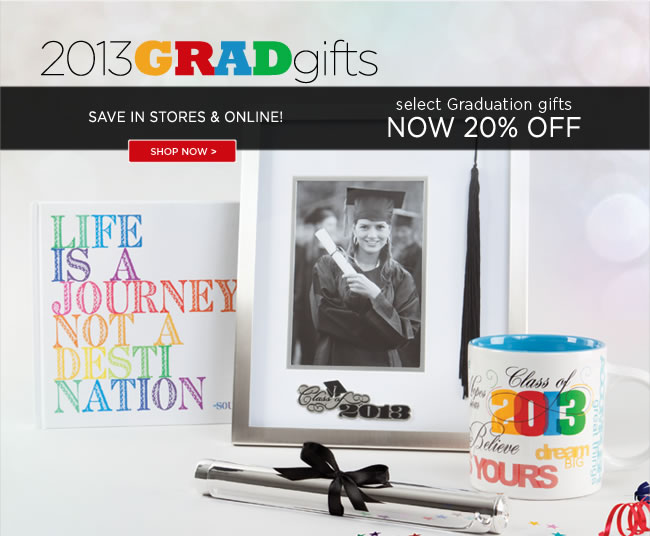 New Happening In Stores & Online  Select Graduation Gifts  Now 20% Off*   Shop in stores or online at www.papyrusonline.com