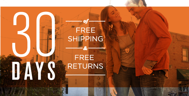 30 Days of Free Shipping and Free Returns