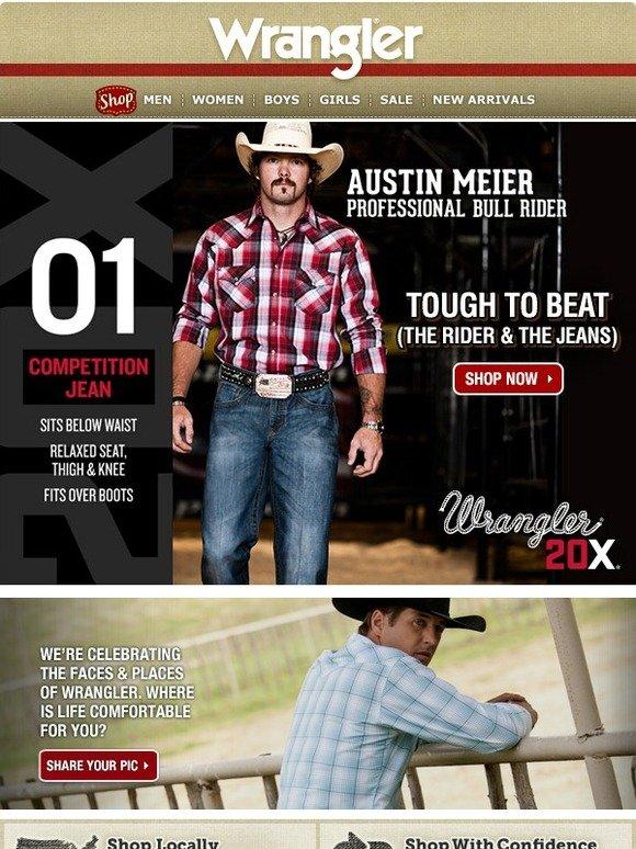 c81571233b6 Wrangler: Tough to Beat: Wrangler® 20X® 01 Competition Jean | Milled