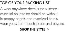 TOP OF YOUR PACKING LIST UP TO 60% OFF