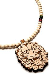 The King Lion Pendant Necklace in Natural