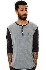 The Monostack Henley in Tri Charcoal