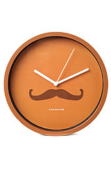 The Mustache Monsieur 8 Inch Wall Clock