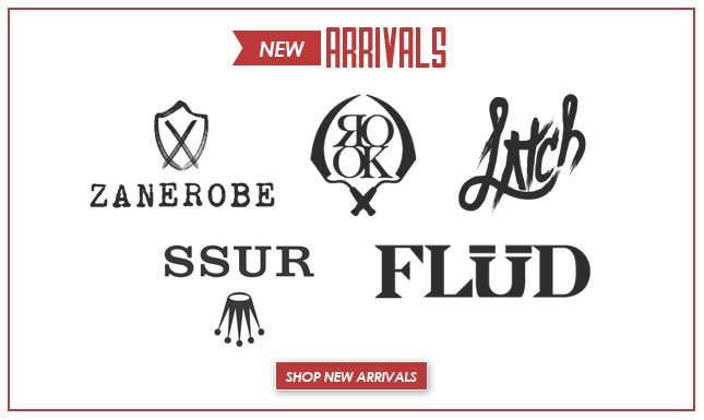 All New from Zanerobe, Flud Watches and more