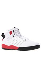 The Skytop III Sneaker in White Raptor TUF, Black, & Red Accents