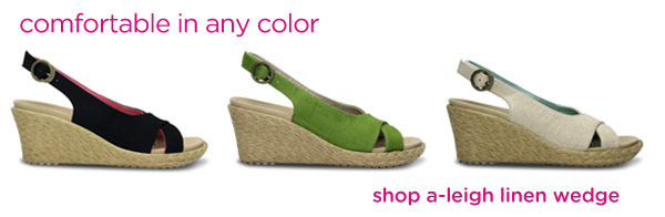comfortable in any color - shop a-leigh linen wedge
