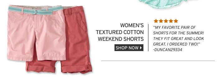 Textured Cotton Weekend Shorts
