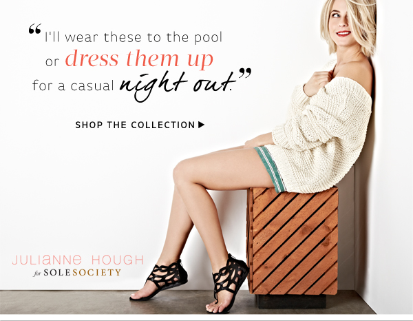 """I can't wait to take these wedges on vacation!"" - Julianne Hough. Shop the Collection"
