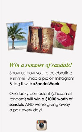Win a summer of sandals!