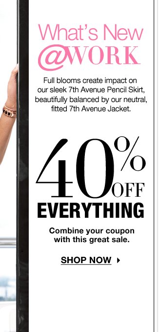 LAST DAY to use your coupon and take 40% off everything! SHOP NOW!