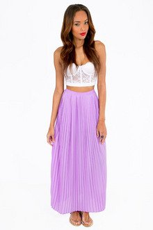 PROUDLY PLEATED MAXI SKIRT 36