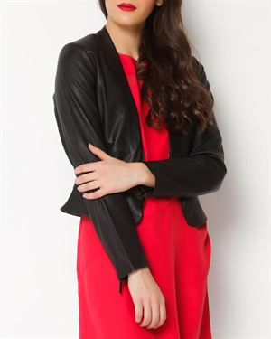 Anna Catherine Genuine Leather Blazer