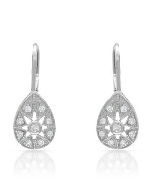 CHATEAU D'ARGENT Earrings Designed In 925 White Sterling Silver