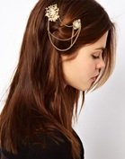 ASOS Double Stone Hair Brooches