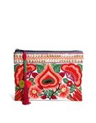 ASOS Clutch Bag With Floral Embroidery
