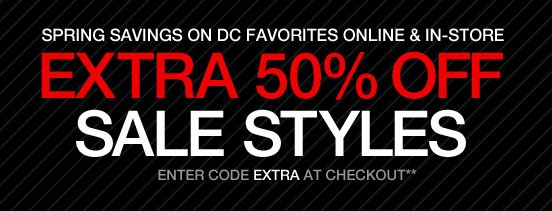 Extra 50% Off Sale Styles. Enter code EXTRA at checkout**