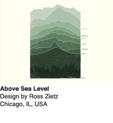 Above Sea Level - Design by Ross Zietz / Chicago, IL, US