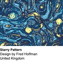 Starry Pattern - Design by Fred Hoffman / UK