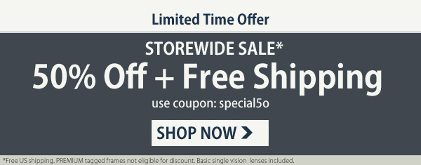 50% OFF + Free Shipping!