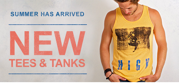 Summer has arrived. New tees & tanks.