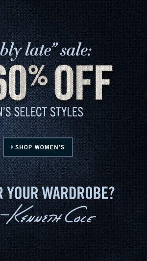 MEN'S AND WOMEN'S SELECT STYLES // SHOP WOMEN'S