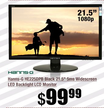 Hanns-G HE225DPB Black 21.5 inch 5ms Widescreen LED Backlight LCD Monitor