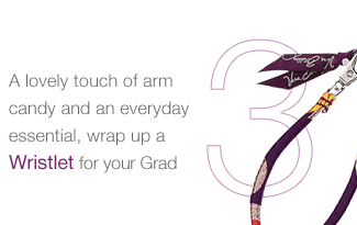 A LOVELY TOUCH OF ARM CANDY AND AN EVERDAY ESSENTIAL, WRAP UP A WRISTLET FOR YOUR GRAD