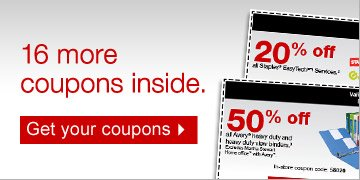 16 more  coupons inside. Get your coupons.