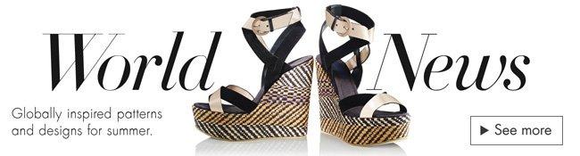 World News: Globally Inspired Designer Sandals