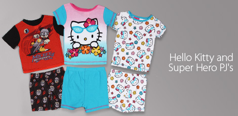 Hello Kitty & Super Hero PJ's