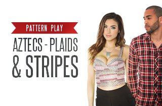 Pattern Play: Aztec, Stripes, and Plaids.