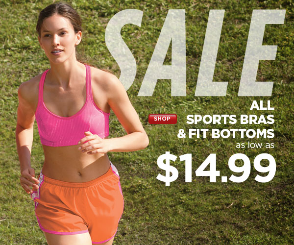 SHOP Sports Bras & Fitness Bottom SALE