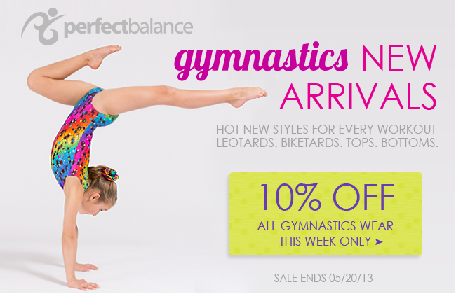 10% off new gymnastics wear this week