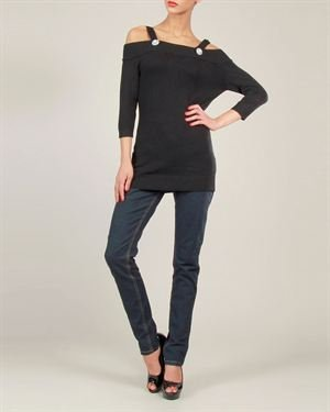 Voodoo Vixen Solid Color Open Shoulder Tunic