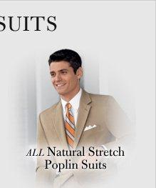 Natural Stretch Poplin Suits