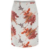 Cut Up Floral Silk Skirt