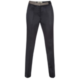 Navy Satin Trousers